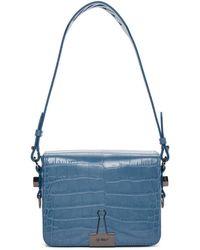 Off-White c/o Virgil Abloh - Blue Croc Flap Bag - Lyst