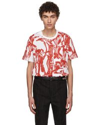 Givenchy - White And Red Iris Pocket T-shirt - Lyst