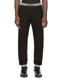 Giuliano Fujiwara - Black Knit Jogging Trousers - Lyst
