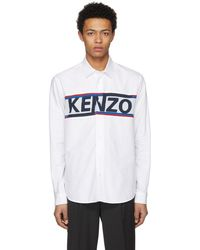 KENZO - White Core Knit Logo Shirt - Lyst