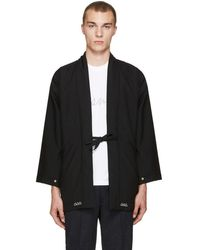 Visvim - Black Wool Dotera Coat - Lyst