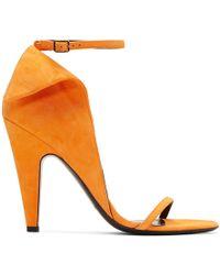 CALVIN KLEIN 205W39NYC - Orange Suede Carmin Sandals - Lyst