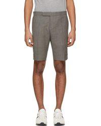 Thom Browne - Grey Low-rise Skinny Side Tab Shorts - Lyst