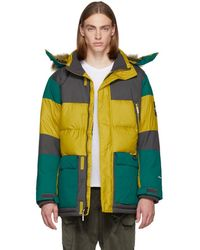 The North Face - Yellow And Green Down Vostok Parka - Lyst