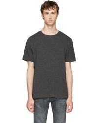 Maison Margiela - Black And Grey Striped T-shirt - Lyst