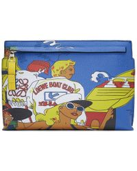 Loewe - Tan And Multicolor Holiday Pouch - Lyst