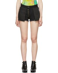 Unravel - Black Denim Reverse Shorts - Lyst