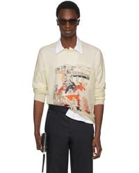 Prada - Off-white Cashmere Graphic Sweater - Lyst