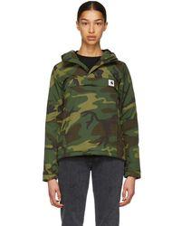 Carhartt WIP - Green Camo Nimbus Pullover Jacket - Lyst