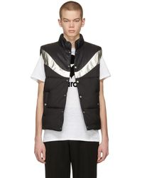 Isabel Marant - Black And Silver Dream Puffer Vest - Lyst