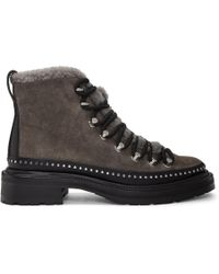 Rag & Bone - Grey Suede Compass Boots - Lyst