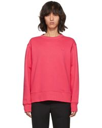 Acne Studios - Pink Fairview Face Sweatshirt - Lyst