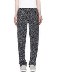 Telfar - Ssense Exclusive Black Embroidered Basic Jeans - Lyst