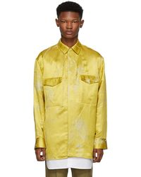 Haider Ackermann - Gold And White Double Layer Shirt - Lyst