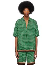 Dries Van Noten - Green Geometric Classen Shirt - Lyst