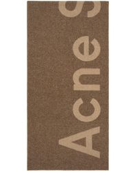 Acne Studios - Tan Toronty Logo Scarf - Lyst