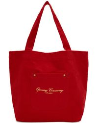 Opening Ceremony - Red Corduroy Big Pocket Tote - Lyst