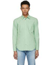 Maison Margiela | Green Poplin Shirt | Lyst