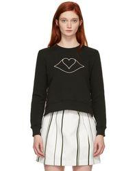 See By Chloé - Brown Lips Heart Sweatshirt - Lyst