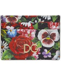 Dolce & Gabbana - Multicolor Floral Print Card Holder - Lyst