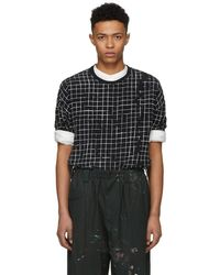 Haider Ackermann - Black And White Silk Anatase T-shirt - Lyst