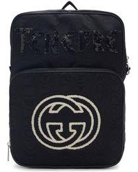 d5473b510ab2 Gucci - Black Medium Tenebre Logo Patch Backpack - Lyst