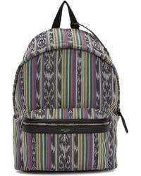 Saint Laurent - Multicolor Striped City Backpack - Lyst