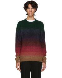 Paul Smith - Multicolor Mohair Degrade Stripe Sweater - Lyst