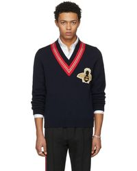 Gucci - Wool Sweater With Bee Appliqu�� - Lyst