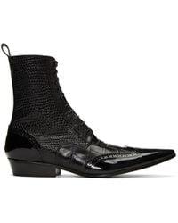 Haider Ackermann - Black Brogue Boots - Lyst