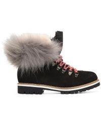 Mr & Mrs Italy - Black Suede & Fur Boots - Lyst