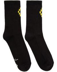 Marcelo Burlon - Black Cross Short Socks - Lyst