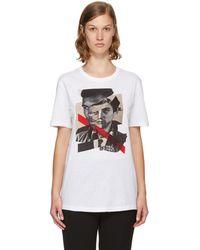 Neil Barrett - White 'freedom Fighters' Hybrid T-shirt - Lyst