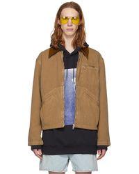 Acne | Brown Marvon Jacket | Lyst