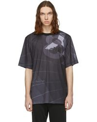 Y-3 - Black Aop Football T-shirt - Lyst