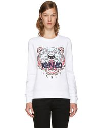 6b01accfe KENZO - White Limited Edition Tiger Sweatshirt - Lyst