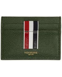Thom Browne - Porte-cartes raye vert Double Sided - Lyst