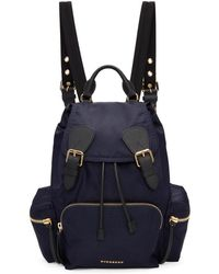 Burberry - Navy Medium Nylon Rucksack - Lyst