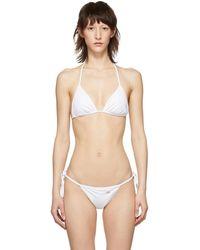 Dolce & Gabbana - White Triangle Bikini Top - Lyst