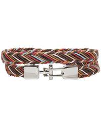 Paul Smith - Multicolour Double Strap Multistripe Bracelet - Lyst