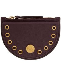 See By Chloé - Burgundy Kriss Coin Pouch - Lyst