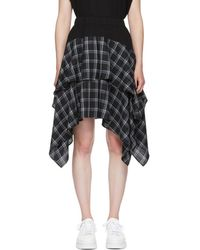 Opening Ceremony - Black Plaid Mix Skirt - Lyst