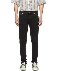 Nudie Jeans - Black Skinny Lin Jeans - Lyst