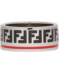 Fendi - Silver-tone And Enamel Ring - Lyst