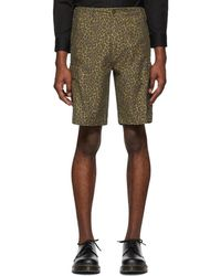 Levi's - Brown Cheetah Hi-ball Roll Cargo Shorts - Lyst