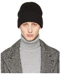 classic knitted beanie hat - Blue Maison Martin Margiela 8vyvC