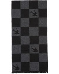 McQ - Black Checkerboard Swallows Poncho - Lyst