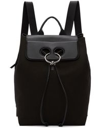 J.W.Anderson - Black Canvas Pierce Backpack - Lyst