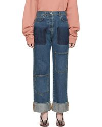 JW Anderson - Blue Shaded Pocket Jeans - Lyst
