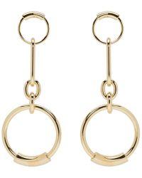 Chloé - Gold Reese Earrings - Lyst
